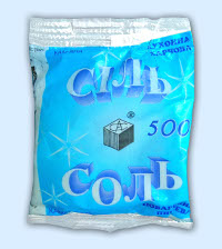 Пищевая поваренная соль в пакетах